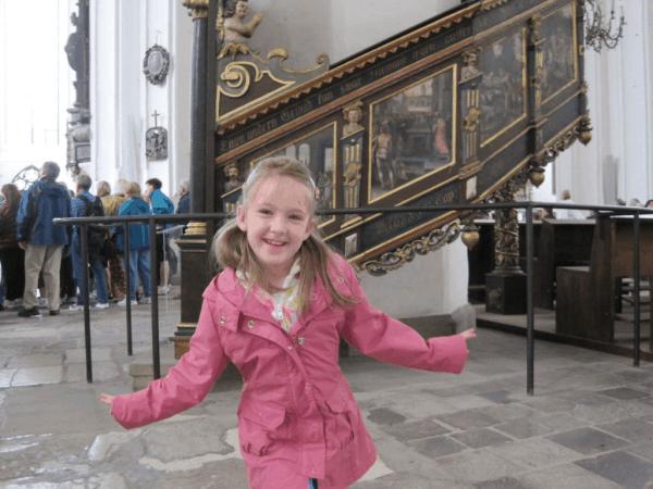 poland-gdansk-girl at st. mary's church