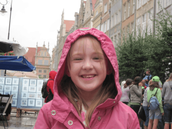 poland-gdansk-young girl on street