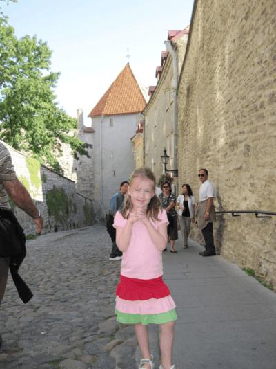 estonia-walking in tallinn old town