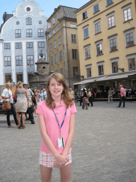 sweden-stockholm-girl in gamla stan