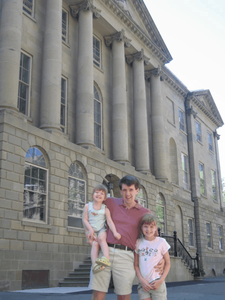 nova scotia-halifax-family outside province house