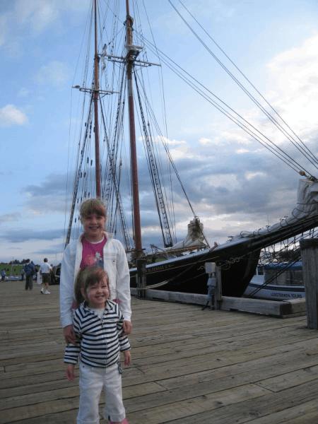 nova scotia-lunenburg-girls at bluenose schooner