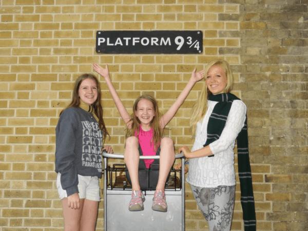 London King's Cross Station Platform 9 three-fourths