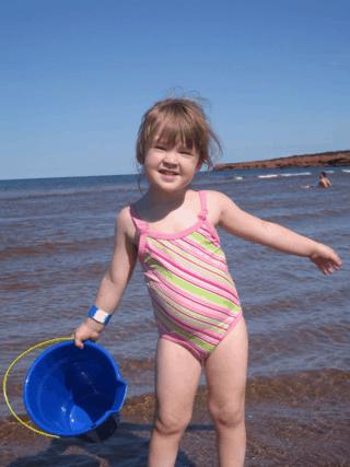 prince edward island-cavendish beach-young girl playing