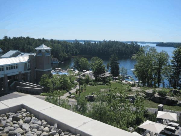 Rosseau Muskoka-View of Lake Rosseau from terrace