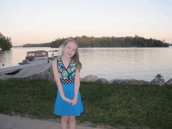 Setting sun on Lake Rosseau