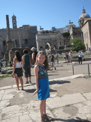 italy-rome-girl at forum