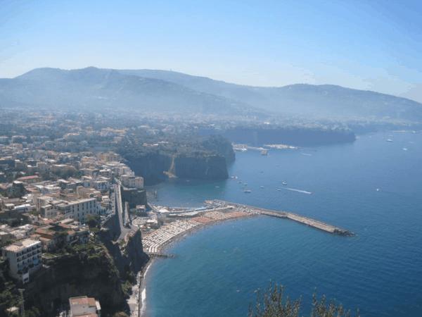 Italian coastline near Sorrento