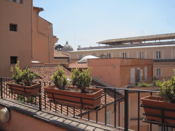 Rome-Albergo Santa Chiara-view from terrace