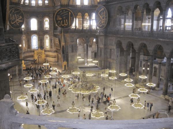 Istanbul-Inside Hagia Sophia