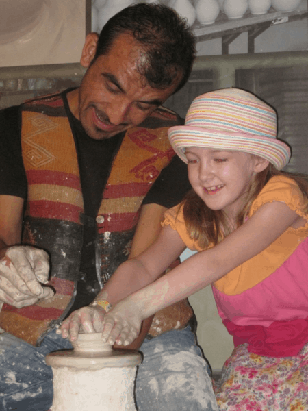 A pottery lesson in Istanbul, Turkey