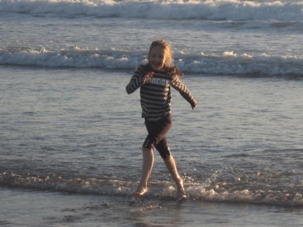 Playing in surf at Hotel del Coronado San Diego