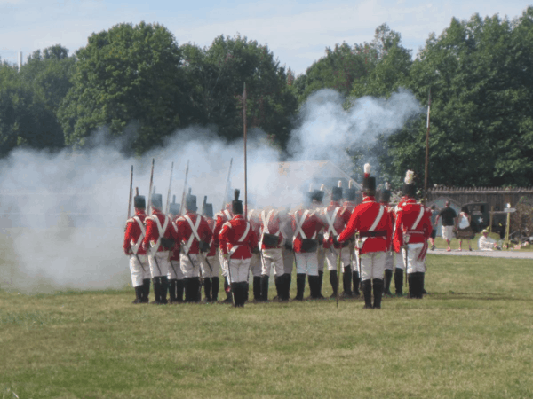 Soldiers at Fort George