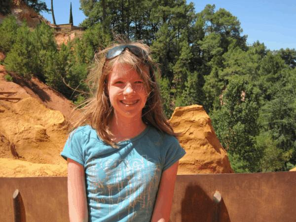Roussillon, France-in ochre quarry