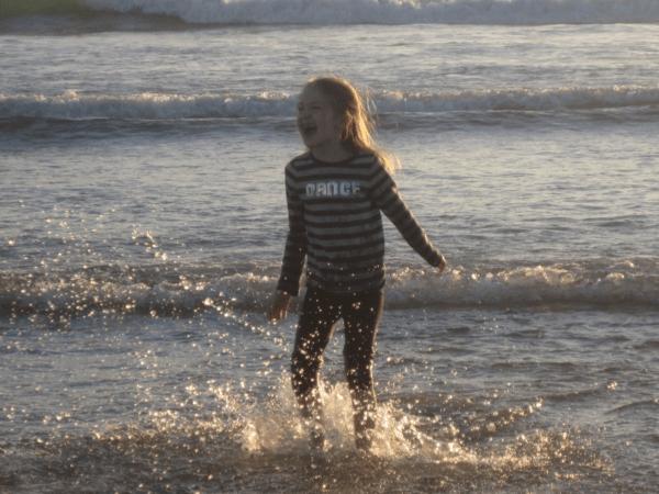 Playing on beach - Hotel del Coronado