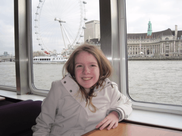 England-Riding river boat on Thames