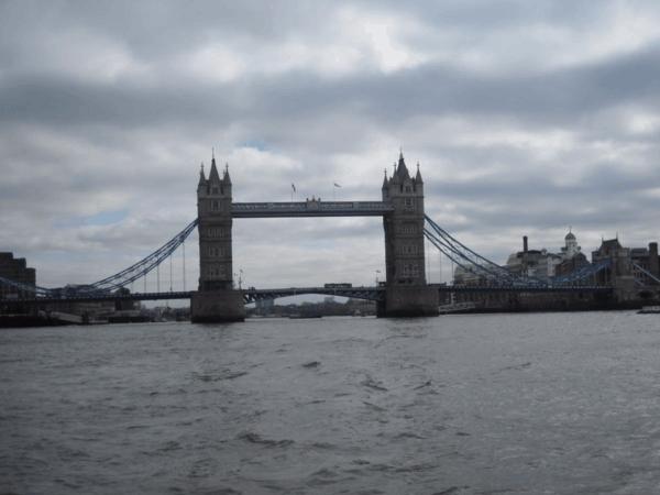 London-Tower Bridge from water