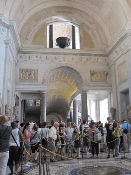 Crowds in Vatican Museums