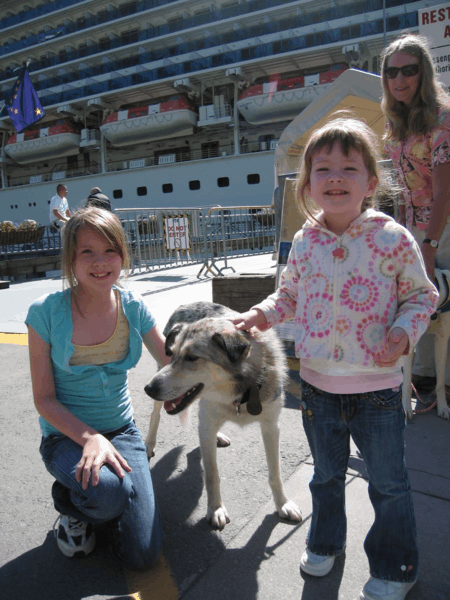 Alaska-Juneau-With Libby Riddles and sled dogs in Alaska