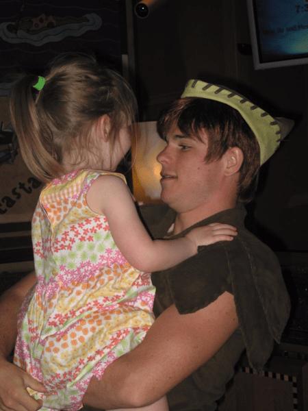 Disney Magic- young girl with Peter Pan