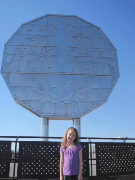 Emma at the Big Nickel, Sudbury