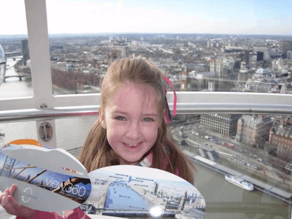London Eye-young girl