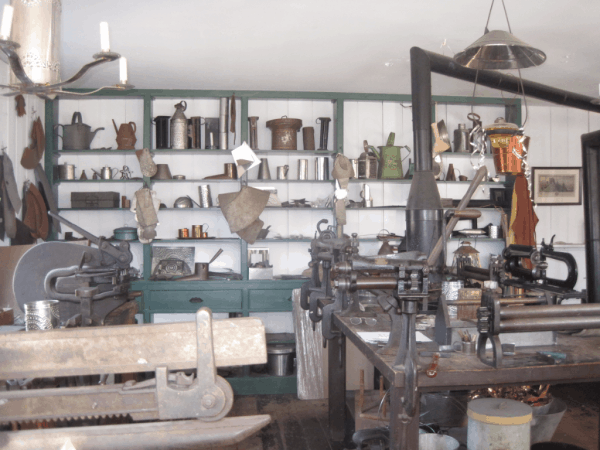 Inside the tin shop, Black Creek Pioneer Village