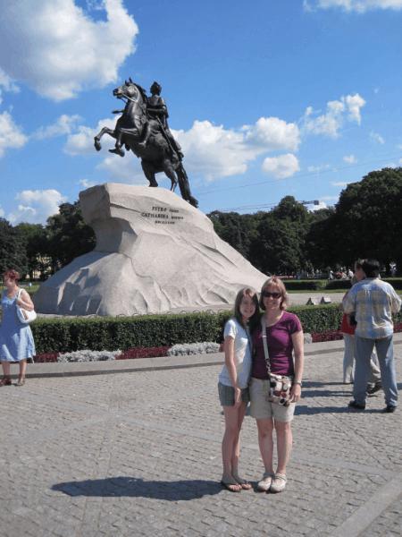at The Bronze Horseman, St. Petersburg