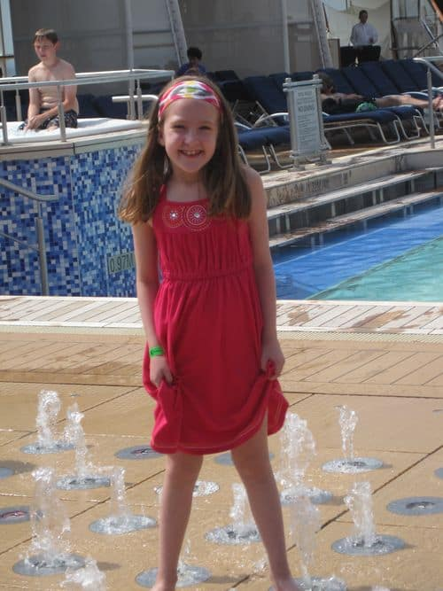 Emma discovers fountains on Celebrity Equinox