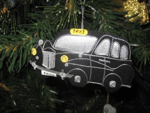 London Black Cab-Christmas ornament