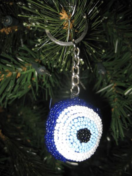 Evil Eye key chain-Christmas ornament