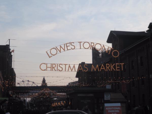 Lighted Toronto Christmas Market