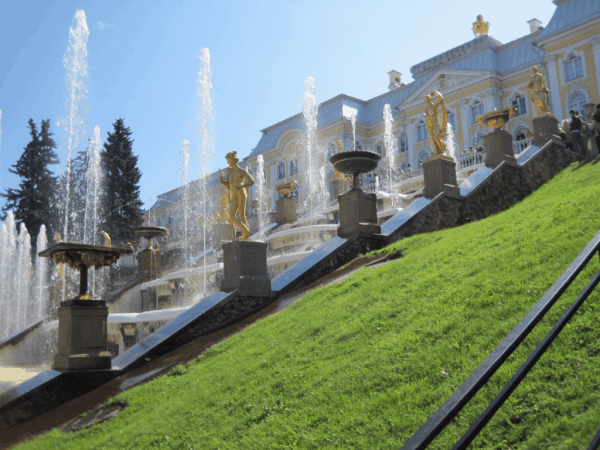 Russia-St. Petersburg-Peterhof Palace-Grand Cascade