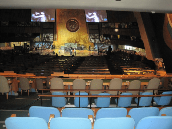 UN General Assembly Hall-New York City