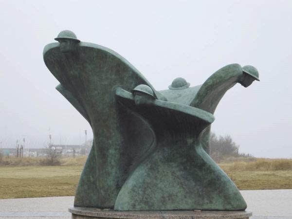 France-Normandy-Sculpture at Juno Beach Centre