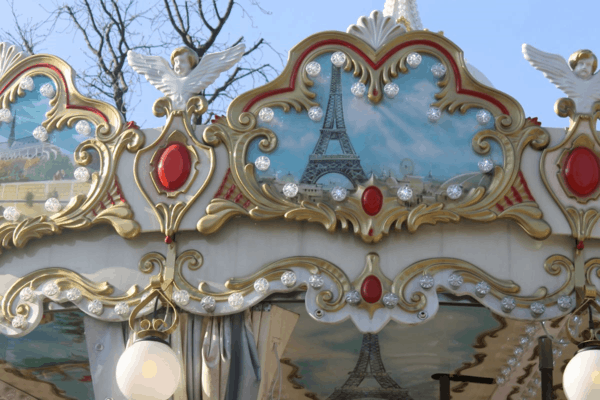 France-Paris-Tuileries Gardens-Carousel