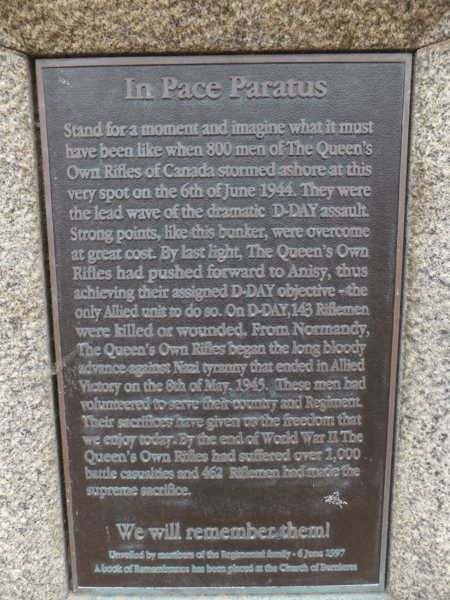 france-normandy-juno beach-In Pace Paratus
