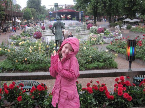 Emma at Tivoli Gardens in the rain