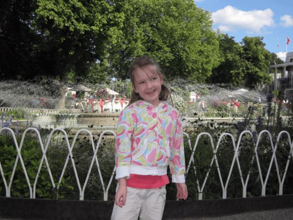 Copenhagen-Tivoli Gardens on a Sunny Day