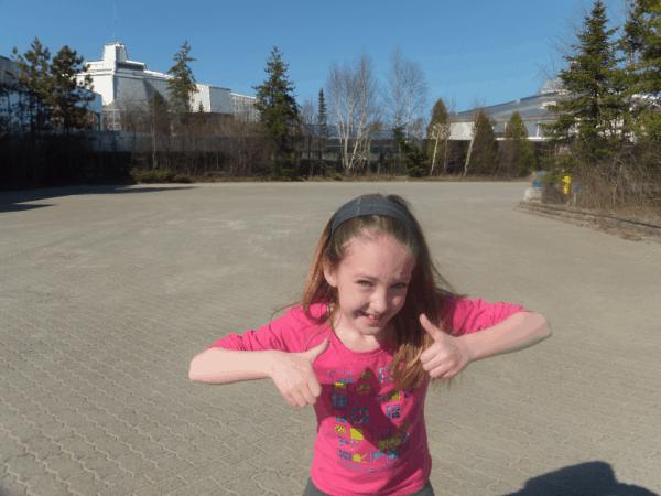 outside Science North in Sudbury