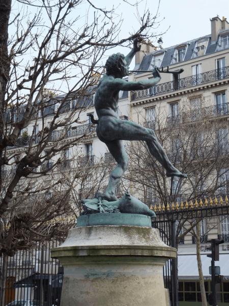 Paris-Statue of Pan in Luxembourg Gardens