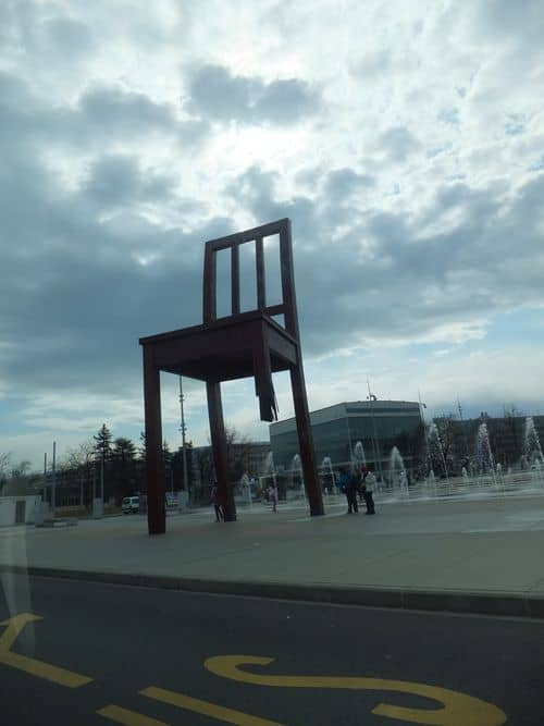 Broken Chair in Geneva
