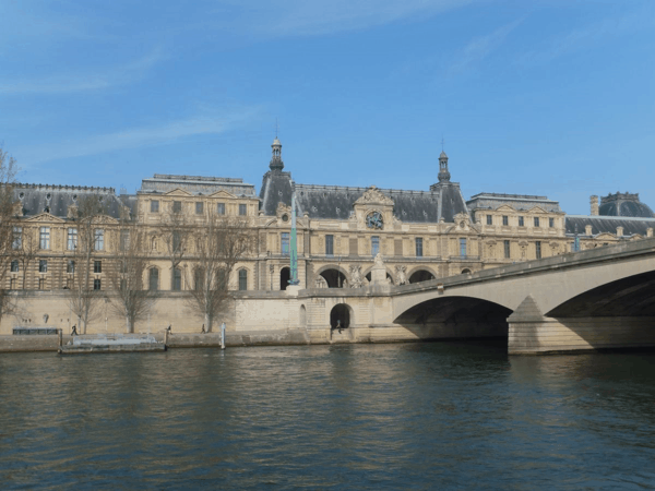 France-Paris-Seine cruise-View of Louvre