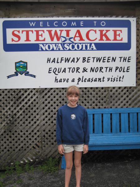 Nova Scotia-Stewiacke sign