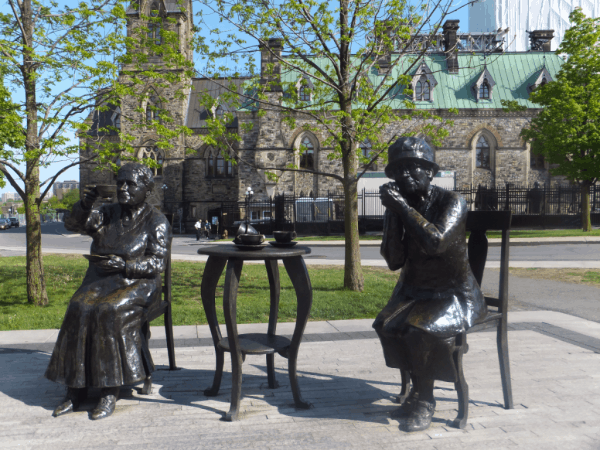 Ottawa-Parliament Hill-The Famous Five monument