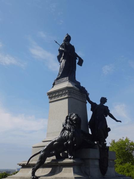 Ottawa-Queen Victoria statue on Parliament Hill