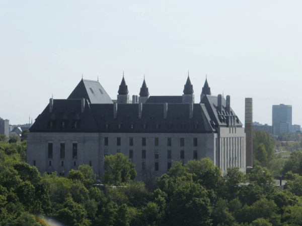 Ottawa-View of Supreme Court of Canada from Parliament Hill