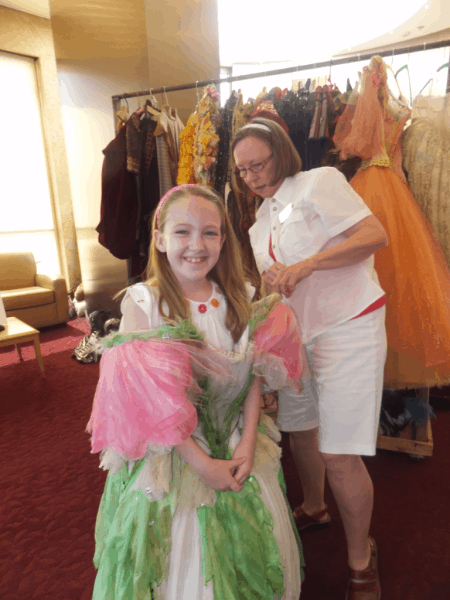 Trying on costumes at Stratford Festival