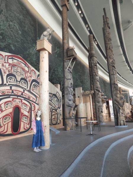 Ottawa-Totem Poles at Canadian Museum of Civilization