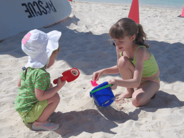 Disney cruise-Searching for seashells at Castaway Cay